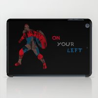 steve rogers iPad Cases featuring Steve Rogers (CA) - Black Background by MajesticSeahawk Designs