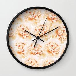 Peonies Wall Clock