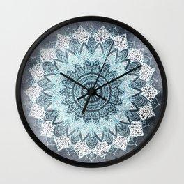 BOHOCHIC MANDALA IN BLUE Wall Clock