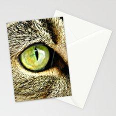 Emerald Cat Eyes Stationery Cards