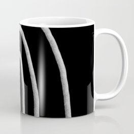 Simple crayon rainbow lines white and black Coffee Mug
