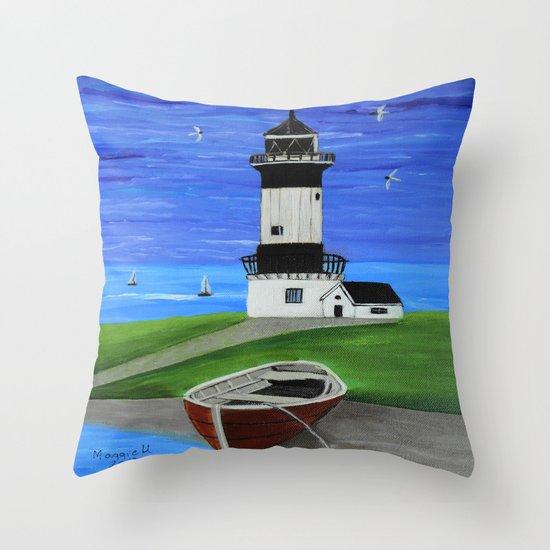 Lighthouse 4 Throw Pillow