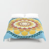 vector Duvet Covers featuring Vector 3 by Ace of Spades