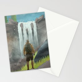 HK Bokuto's waterfall Stationery Cards