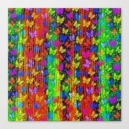 Tropical wave of butterflies Canvas Print