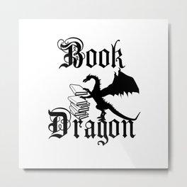 Book Dragon Metal Print