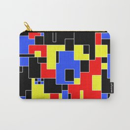 Primary Plans - Abstract, geometric map in primary colours Carry-All Pouch
