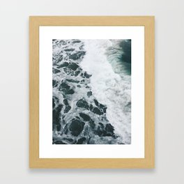 Consumes Itself - Ocean Wave - Los Angeles Venice Beach Framed Art Print