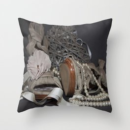Shoes n Pretty Girlie Things. Throw Pillow