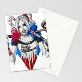 Harley Quinn Armed Stationery Cards