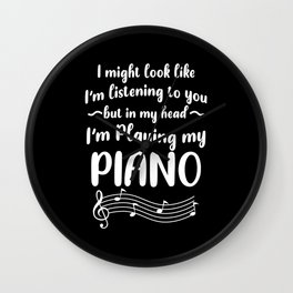 Piano Pianist Clefs Piano Player Gift Wall Clock