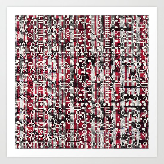 Linear Thinking Trip-Switch (P/D3 Glitch Collage Studies) Art Print
