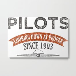Pilot Proud Aviation Lover Gift Idea Metal Print