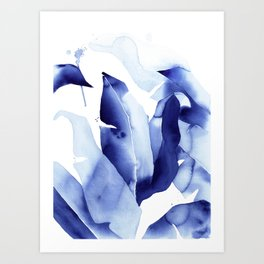 Royal Blue Palms no. 2 Art Print