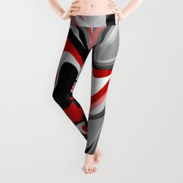 Liquify - Red, Gray, Black, White Leggings