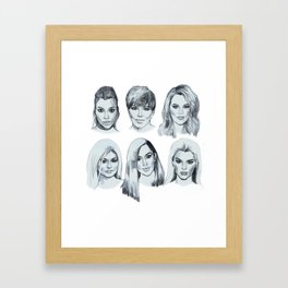 Keeping up 2 (Kardashians) Framed Art Print