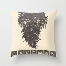 Caveman Throw Pillow