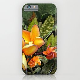Hawaiian Plumeria at First Light iPhone Case