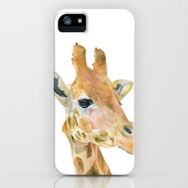 Giraffe Watercolor iPhone Case