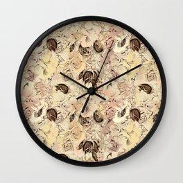 pattern Flowers Wall Clock