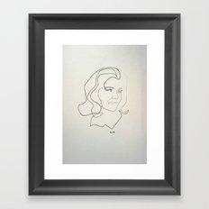 One line Avengers: Emma Peel Framed Art Print
