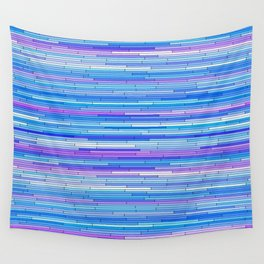 Blue Purple Random Lines Wall Tapestry