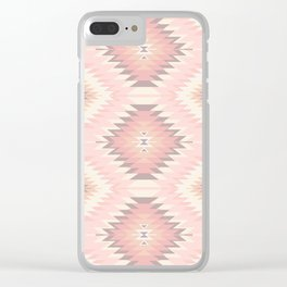 Pastel Pink & Coral Navajo Clear iPhone Case