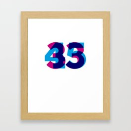 33/45 Framed Art Print
