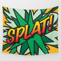 comic book Wall Tapestries featuring Comic Book SPLAT! by The Image Zone