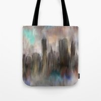 skyline Tote Bags featuring Skyline by Rafael&Arty
