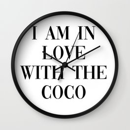 I am in love with the coco Wall Clock