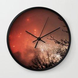 Glowing sky Wall Clock