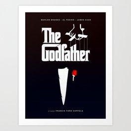 The Godfather, 1972 (Minimalist Movie Poster) Art Print