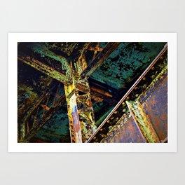 Psychedelic Crossings  Art Print