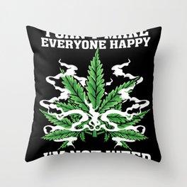 Hemp Leaf Lover Gift Idea Design Motif Throw Pillow