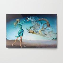 Salvador Dali - Trilogy of the Desert, Mirage surrealist female form painting Metal Print