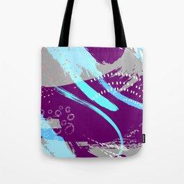 Violet blue splash Tote Bag