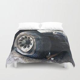 Flat Tire! Duvet Cover