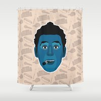 seinfeld Shower Curtains featuring Cosmo Kramer - Seinfeld by Kuki