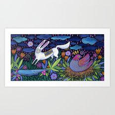 Frolic in the Forest Art Print