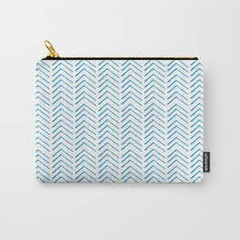 Hand painted blue watercolor aztec chevron geometrical Carry-All Pouch