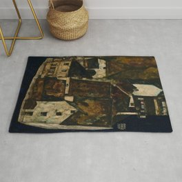 "Egon Schiele ""Dead City III (City on the Blue River III)"" Rug"