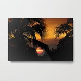 South Florida Sunset Metal Print