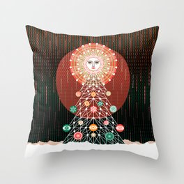 Christmas Tree by ©2018 Balbusso Twins Throw Pillow