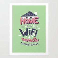 Home Wifi Art Print