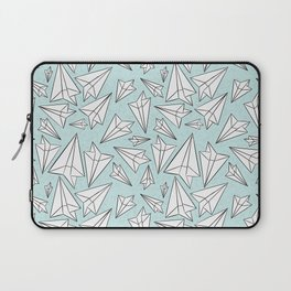 Paper Airplanes Mint Laptop Sleeve