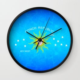 The Conch Republic Flag Wall Clock