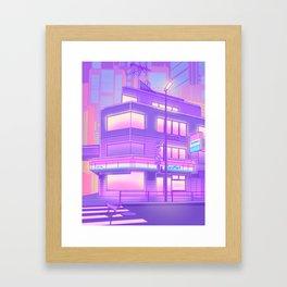 Konbini Nights Framed Art Print