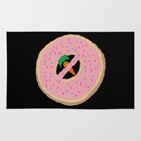 donut Area & Throw Rugs featuring Donot Donut by Chris Piascik