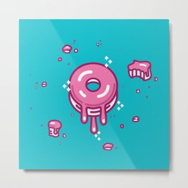Pink Doughnut Metal Print